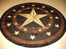 texas star area rugs round lone star rustic cowboy western black brown area rug free