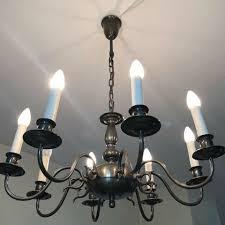 Kronleuchter Deckenlampe Lampe 8 Kerzen 70cm Durchm