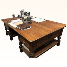 partners desk in quartersawn tiger oak c 1890