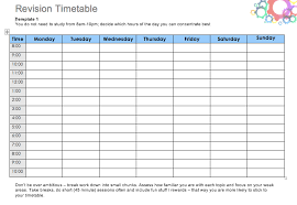 Daily Time Table Daily Study Timetable For Students Top Form Templates