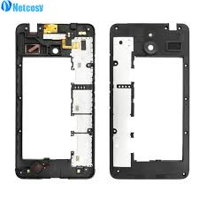 Netcosy For Nokia Microsoft Lumia 640xl Middle Plate Cover Black