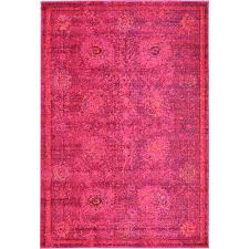 Overdyed Area Rugs Red 4 X 6 Rug