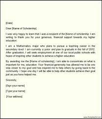 High School Scholarship Thank You Letter Sample