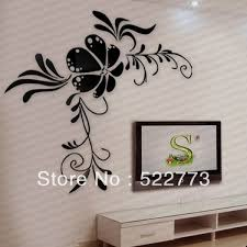 the new style crystal embossed acrylic crystal 3d wall stickers tv wall stickers decals large