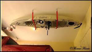 how to hang kayak in garage image hang kayak in garage diy