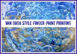 <b>Van Gogh</b> Style Finger-Paint <b>Printing</b> - The Imagination Tree