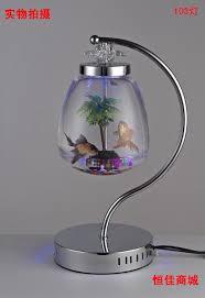 Elegant Table Lamp Fish Tank Small Desktop Fish Tank Goldfish Bowl Decoration