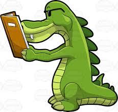 arthur the alligator reading a book