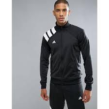 adidas adidas tango football track jacket in black bq0390 black smooth jersey raglan sleeves ipm 72866