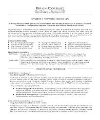 Network Technician Resume Objective Fancy Com Examples Also Tech