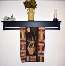 wooden quilt wall hanger hanging quilt shelf hanging quilt shelf for