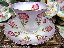 Decorative Cups And Saucers Royal albert purple floral with gold trims tea cup and saucer 26