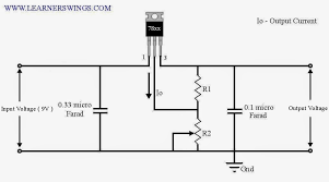 circuit diagram for 7805 regulator blueraritan info Home Wiring Schematic adjustable output voltage regulator using funny electronics, wiring diagram
