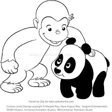 Disegno Di George E Il Panda Curioso Come George Da Colorare
