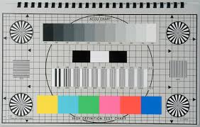 High Definition Resolution Chart Accu Chart Hdtv 16 9 High Definition Engineers Test Chart