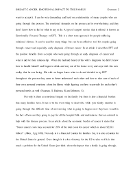 care professional essay breast cancer emotional