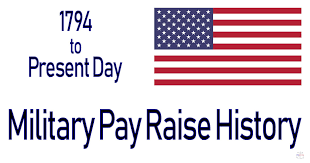 2010 Army Pay Chart U S Military Pay Raise History 1794 To Present Day