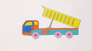 VẼ VÀ TÔ MÀU XE TẢI CHỞ CÁT | Draw and color the truck | Bé Tập Vẽ