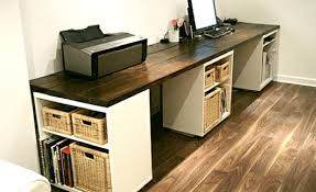 we first built the box stands we just used plywood from lowes and built in office desk plans