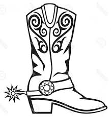 Elegant Perspective Cowboy Boot Coloring Page Beautiful Boots Pages