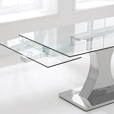 stunning extendable dining table glass dining room glass extendable dining table home interior design