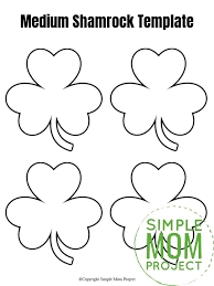 See shamrock outline printable, printable shamrock coloring pages & shamrock coloring pages & more. Free Printable Shamrock Templates In Small Medium And Large Simple Mom Project