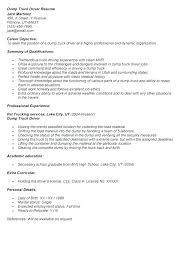 Personal Resume Sample Personal Driver Resume Dump Truck Driver