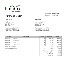 samples of purchase order form samples of purchase order forms sample business template
