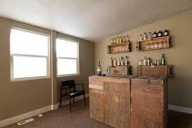 stylish modern bar diy shelves