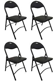 metal folding chairs with padded seats. Fine Metal Heavy Duty Black Metal Folding Chair With Padded Seat For Comfort Steel  Frame 4 To Chairs With Seats