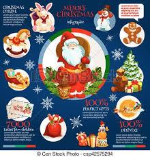 Merry Christmas Holiday Infographics Design