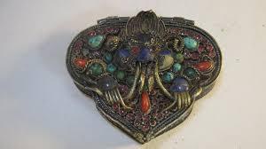 a beautiful tibetan old silver gau prayer box pendant
