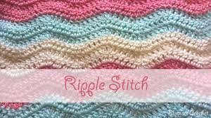 Crochet Ripple Pattern Cool Simple Ripple Stitch Crochet Tutorial YouTube
