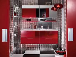 Dark Red Bathroom Red And Grey Bathroom Ideas White Varnished Wooden Frame