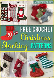 Crochet Christmas Stocking Pattern Custom 48 Free Crochet Christmas Stocking Patterns Guide Patterns