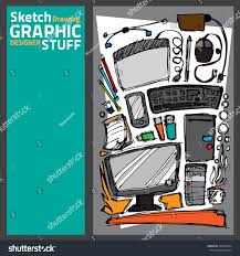 Graphic Designer Stuff Draw Sketch Technology Stuff Graphic Designer Stock Vector