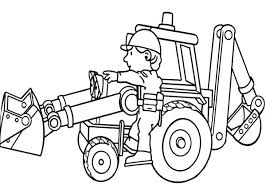 Small Picture Bob Working with Scoop in Bob the Builder Coloring Page Bob