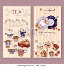 Tea Menu Design Vector Photo Free Trial Bigstock