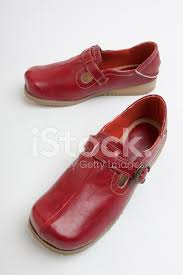 leather shoes red for women