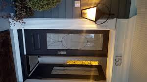 custom exterior door glass insert