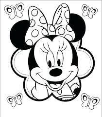 Minnie Mouse Coloring Pages Mickey Color Page Awesome And Of Sheet