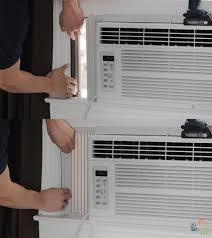 window air conditioner installation. Exellent Installation Step 6 Attach Panels Intended Window Air Conditioner Installation N