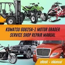 komatsu gd825a 1 motor grader service repair manual