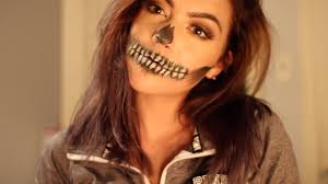 easy skull mouth makeup tutorial for beginners