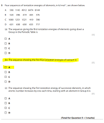 Ionisation energies multiple question. - The Student Room