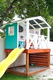 learn how to build a wooden outdoor playhouse for the kids this has diy fort backyard outdoor fort ideas