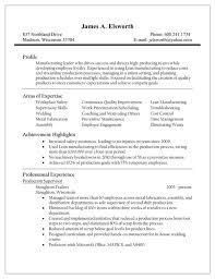 Download Production Supervisor Resume For Free Formtemplate