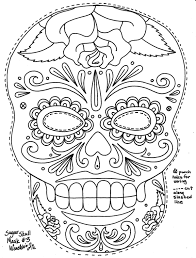 A Great Sugar Skull Mask Template