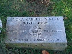 Lenora Vincent Buck (1930-2001) - Find A Grave Memorial