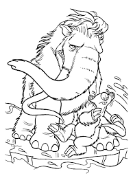 Small Picture Ice Age Coloring Pages chuckbuttcom